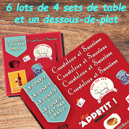 Lot Set-de-table + Dessous-de-plat