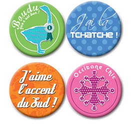 Set de 4 Badges
