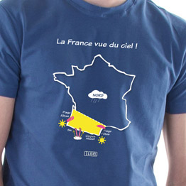 T-shirt La France vue du ciel !